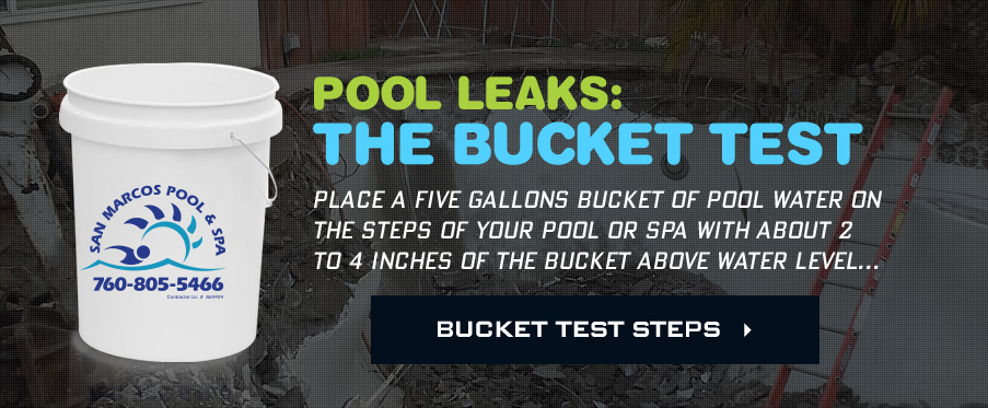 Pool Leaks: Bucket Test