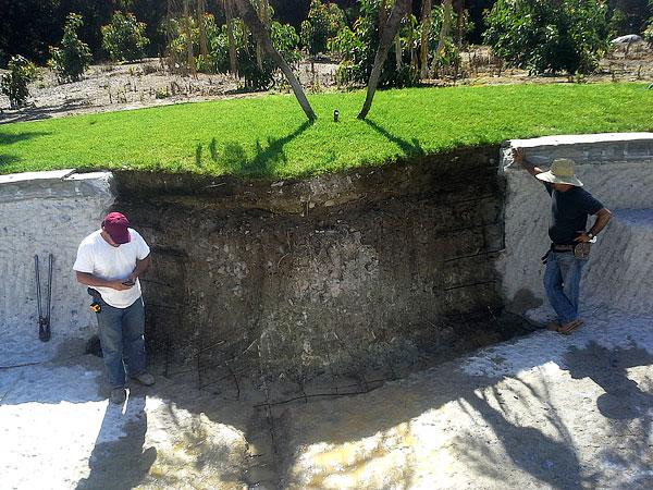 Repairing A Pool Wall
