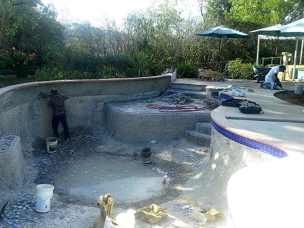 Repairing A Pool Wall & Floor
